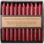 Christbaumkerzen Wachs - 20 Stück in Romantik Rot kaufen