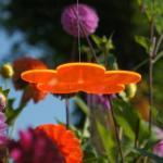 CIM Sonnenfänger - Sun Dancer Blume 150 orange - wetterfest, lichtreflektierend - Acrylscheibe: Ø15cm - inkl. Kegelzapfen und Nylonschnur zum Hängen