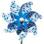 CIM Windspiel Windrad Moulin 14 6er Bundle Garten-Deko Dekoration Höhe32cm Ø14cm