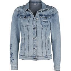 Hellblaue Jeansjacken für Damen Übergrößen