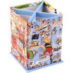 """Clairefontaine 812888C – Ein rechteckiger Stifteköcher""""Asterix Comics"""" Farbig 4 Fächer 8 x 8 x 11,5 cm"""