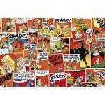 Clairefontaine 812891C Asterix Schreibtischunterlage 60 x 40 cm, Motiv Comics, Rot