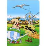 Clairefontaine 812910C Asterix Les Gaulois, 96 Seiten, 14,8 x 21 cm, 90 g, liniert, Umschlag aus laminiertem Karton, zufällige Farbauswahl