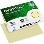 Clairefontaine Recyclingpapier Evercolor hellgelb DIN A4 80 g/qm 500 Blatt