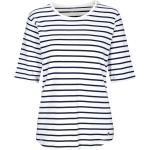Clarina Rundhalsshirt »BRIGITTE« mit Streifen-Muster, weiß, 100 WEISS-MARIN