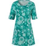 Classic Basics Longshirt, grün, gemustert-smaragd