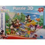Clementoni 20030.6 - Puzzle Magic 3D - 104 teilig Mickey Mouse - The Upslide
