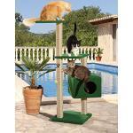 CLEVERCAT Outdoor Kratzbaum Summertime. Ideal für Terasse und Balkon. Spritzwassergeschützt. Vile Platz für Ihren Liebling 842