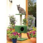 CLEVERCAT Outdoor Kratzbaum Terrasso Maggy. Ideal für Balkon oder Terasse. Kratzsäulen mit Naturholzkern. Natürlich Made in Germany 8404