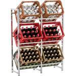 CLP Standregal »Lennert«, Platzsparender robuster Kistenständer für Getränkekisten, silberfarben, XL, chrom