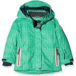 Emeraldfarbene Winddichte Atmungsaktive CMP Kinderskijacken mit Kapuze zum Skifahren für den Winter