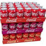 Coca Cola Original, Coca Cola Cherry & Coca Cola Vanilla je 24 x 0,33l Dose XXL-Paket (72 Dosen gesamt)