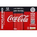 Coca-Cola Zero Sugar, Koffeinhaltiges Erfrischungsgetränk in stylischen Dosen mit originalem Coca-Cola Geschmack - null Zucker und ohne Kalorien, 10 x 330 ml, EINWEG