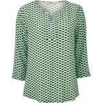 Comma CI Bluse - Damen - hellgrün/schwarz/gemustert jetzt im Angebot