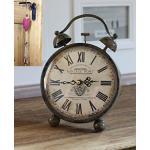 condecoro Nostalgie Uhr Wecker 'Vintage Port' Shabby Landhaus Standuhr braun