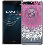 Conie MC12355 Mandala Case Kompatibel mit Huawei P9 Plus, Orient TPU Hülle mit HD Muster Silikon Schutzhülle für P9 Plus Bumper Henna Rosé Weiss