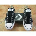 Schwarze Converse All Star Slip-on Sneaker ohne Verschluss für Damen