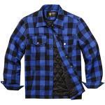 Blaue Holzfällerhemden für Herren für den Winter