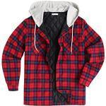 Rote Langärmelige Holzfällerhemden für Herren für den Herbst