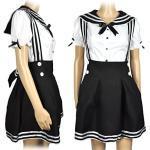 CoolChange Cosplay Schulmädchen Uniform, Schwarz, Größe: L