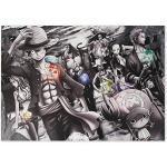 CoolChange Hochwertiges One P. Wandbild auf Hartschaumplatte   Poster 42x30cm   Motiv: Piraten & Jolly Roger