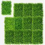 Costway 12 Stk. Künstliches Pflanzenwand Hecke Efeublättern Sichtschutz Heckenpflanze Windschutz für Garten 40 5 x 59 cm