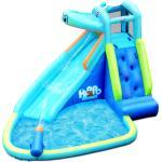 COSTWAY Hüpfburg aufblasbar Wasserrutsche Aufblasbare Spielpool Wasserspielcenter mit Rutsche 350 300 225cm