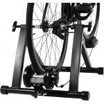Costway Indoor Fahrradrollentrainer Cycletrainer Faltbarer Fahrrad-Trainerständer 150kg Schwarz