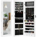 COSTWAY Schmuckschrank »LED-Schmuckschrank, Schmuckorganizer« abschließbar, hängend für Tür und Wandmontage, ideal für Schlafzimmer und Ankleideraum