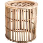 Cosy Home Ideas Beistelltisch »Beistelltisch rund Bambus Geflecht natur« (1 Stück, 1 Stück Beistelltisch), komplett aus Bambus gefertigt, klein