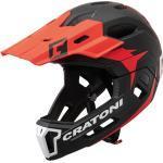 Cratoni Bike Cross Helm »MTB-Fahrradhelm C-Maniac 2.0 MX«, schwarz, schwarz/rot matt - rot-schwarz