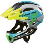 Cratoni Bike Cross Helm »MTB-Fahrradhelm C-MANIAC PRO«, grau, grau/blau matt - blau-grau