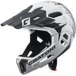 Cratoni C-Maniac 2.0 MX Fahrradhelm Fullfacehelm Downhill Freeride Kinnbügel abnehmbar (Weiss-schwarz, S/M (52-56 cm))