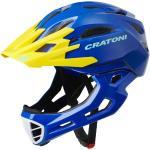 Cratoni Fahrradhelm C-Maniac (Full Protection) blau/gelb