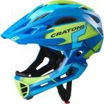 Cratoni Fahrradhelm C-Maniac PRO (Full Protection) blau/lime matt
