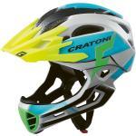 Cratoni Fahrradhelm C-Maniac PRO (Full Protection) grau/blau matt