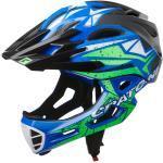 Cratoni Fahrradhelm C-Maniac PRO (Full Protection) schwarz/blau/lime