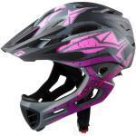 Cratoni Fahrradhelm C-Maniac PRO (Full Protection) schwarz/pink/purple matt