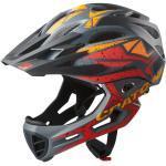 Cratoni Fahrradhelm C-Maniac PRO (Full Protection) schwarz/rot/orange matt