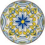 """CreaTable Suppenteller """"Aladin"""", 21 cm, gelb/blau/weiß, gelb/blau/weiß"""
