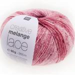 Creative Melange Lace von Rico Design, Rot Mix