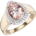 Creazione Bijoux Ring »750/- Roségold mit Morganit und Diamanten«, weiß, weiß