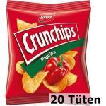 Crunchips Chips Paprika, Kartoffelchips, je 25g, 20 Tüten