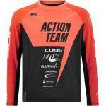 Cube Junior Trikot langarm X Actionteam, orange'n'black - Radtrikot, Größe S