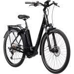 Schwarze Cube Hybrid Wave Rahmen 500 Wh 12 Gang Herrenfahrräder mit Beleuchtung mit Kettenschaltung mit Scheibenbremse mit Mittelmotor