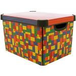CURVER Stockholm Deco Brights Große Kunststoff-Aufbewahrungsbox, 22Liter, Mehrfarbig
