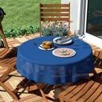 Blaue runde Tischdecken