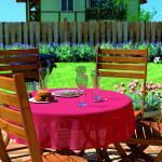 d-c-garden Gartentischdecke Florida 130 cm rund, rot (GLO706401992)