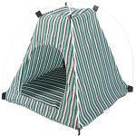 Da.Wa Kleine Haustier Hund Zelt Classic Stripe Pop Up Portable Faltbare Winddichte Hund Zelte & Haustier Häuser