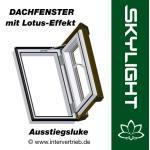 Dachfenster Dachluke Lotus-Effekt Skylight Kunststoff incl. Eindeckrahmen 45x73cm